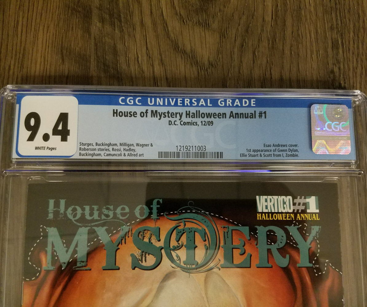 House of Mystery Annual #1 CGC 9.4 Label Front