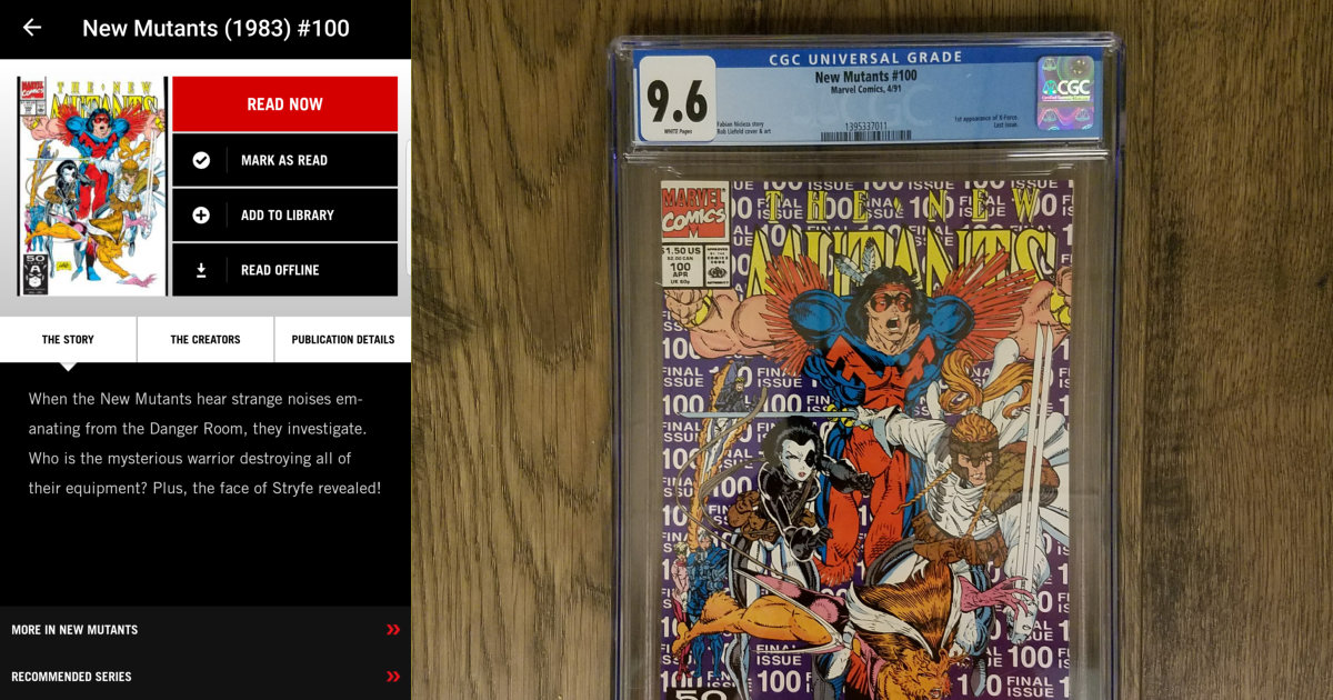 New Mutants #100 CGC 9.6 and Digital Copy
