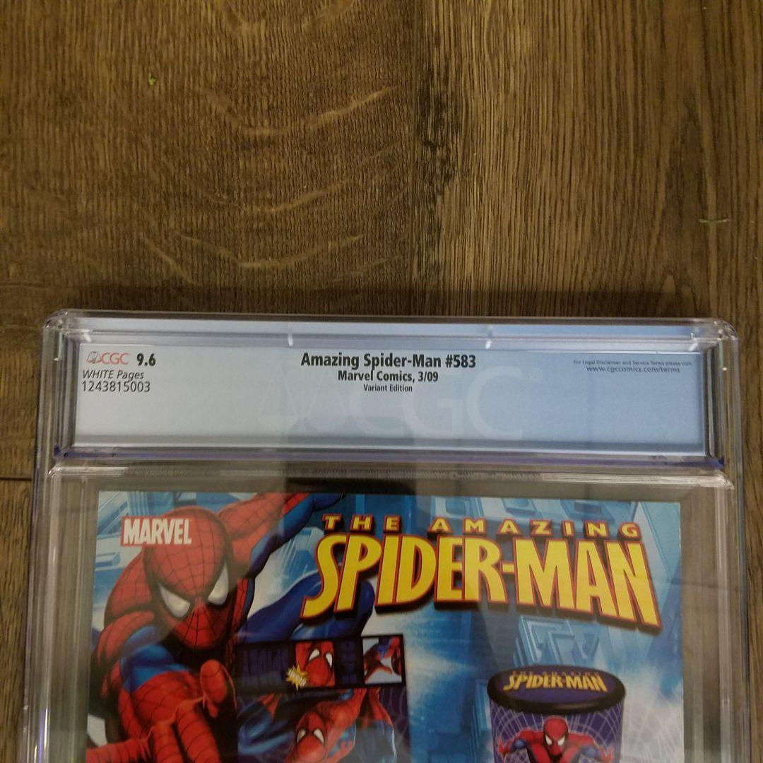 Amazing Spider-Man #583 Obama Variant CGC 9.6 Back Label