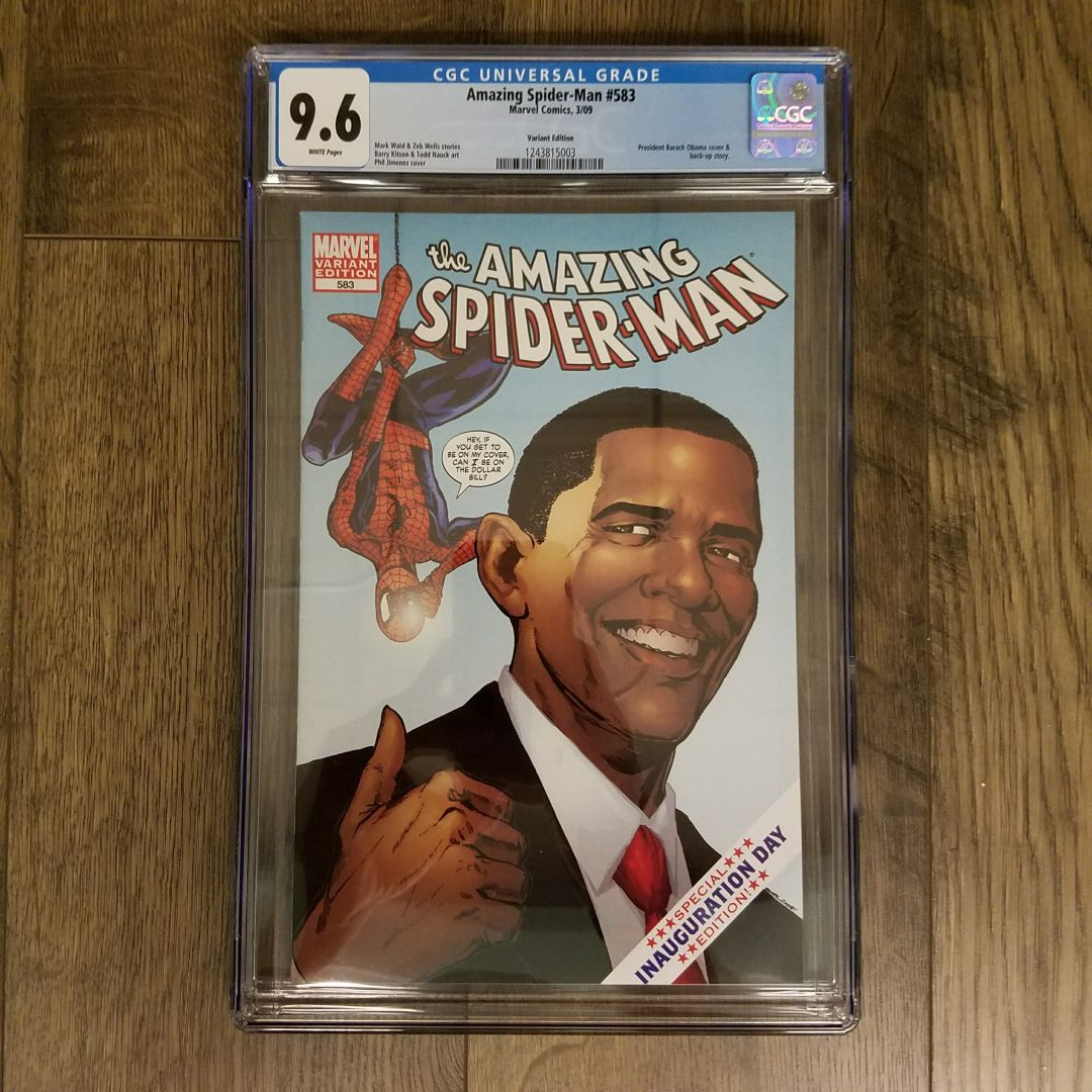 Amazing Spider-Man #583 Obama Variant CGC 9.6 Front