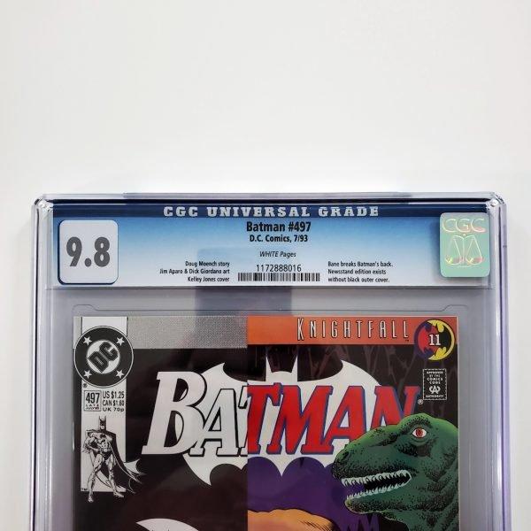 Batman #497 CGC 9.8 NM/M Front Label