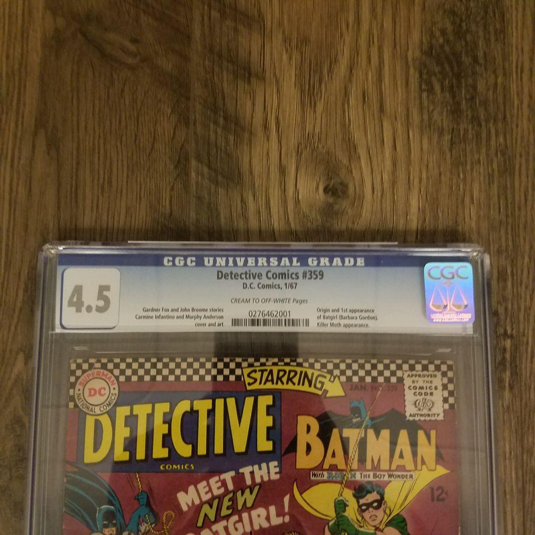 Detective Comics CGC 4.5 Front Label