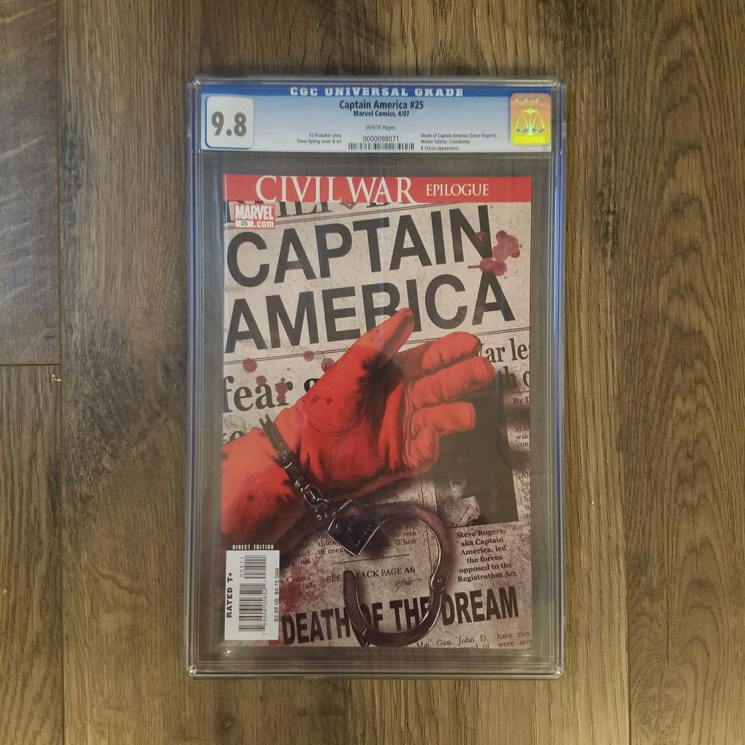 Captain America #25 CGC 9.8 Front