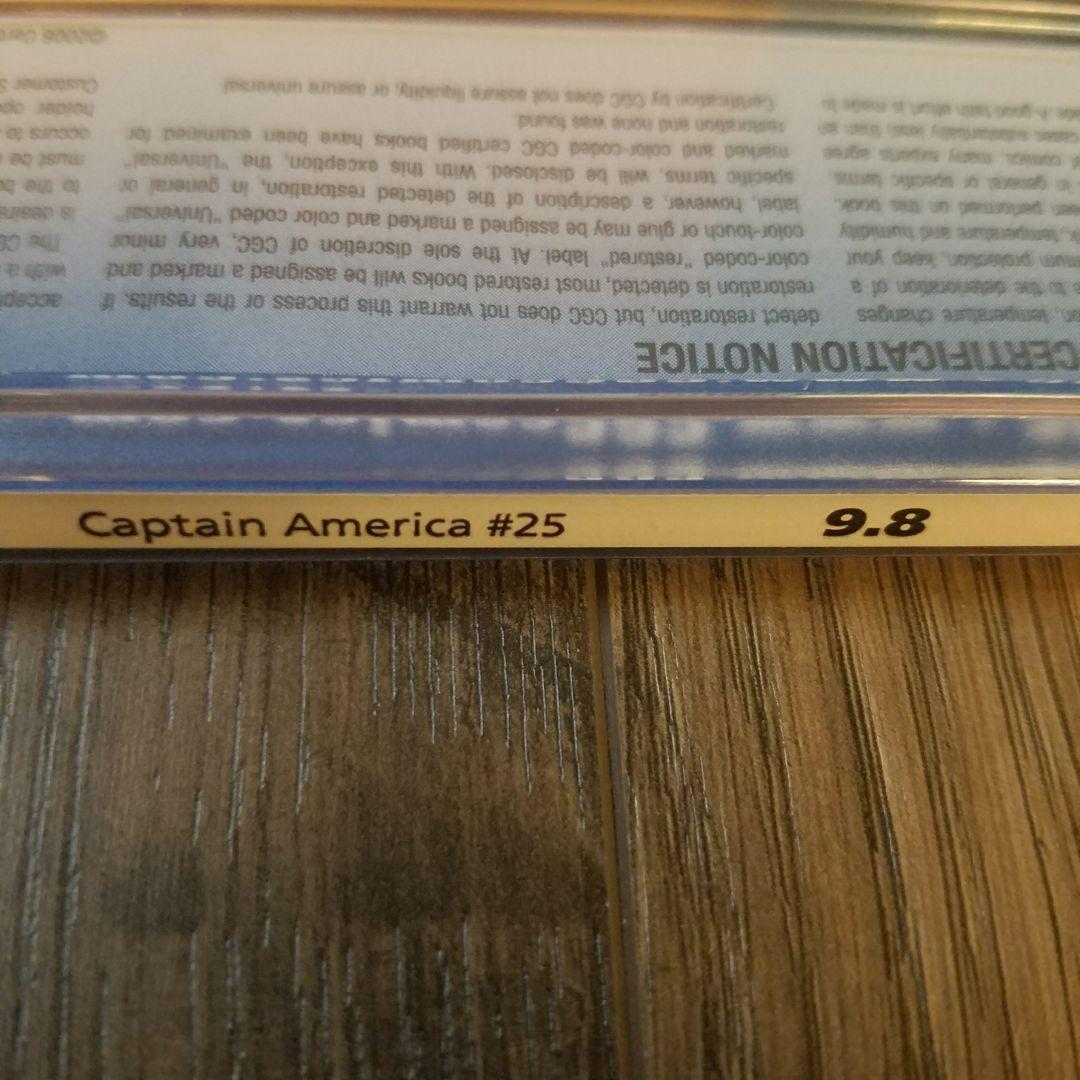 Captain America #25 CGC 9.8 Top Label