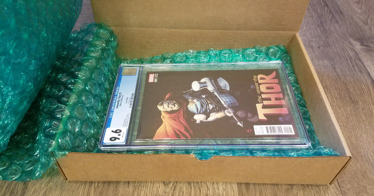 Uline shipping box for slabbed comics