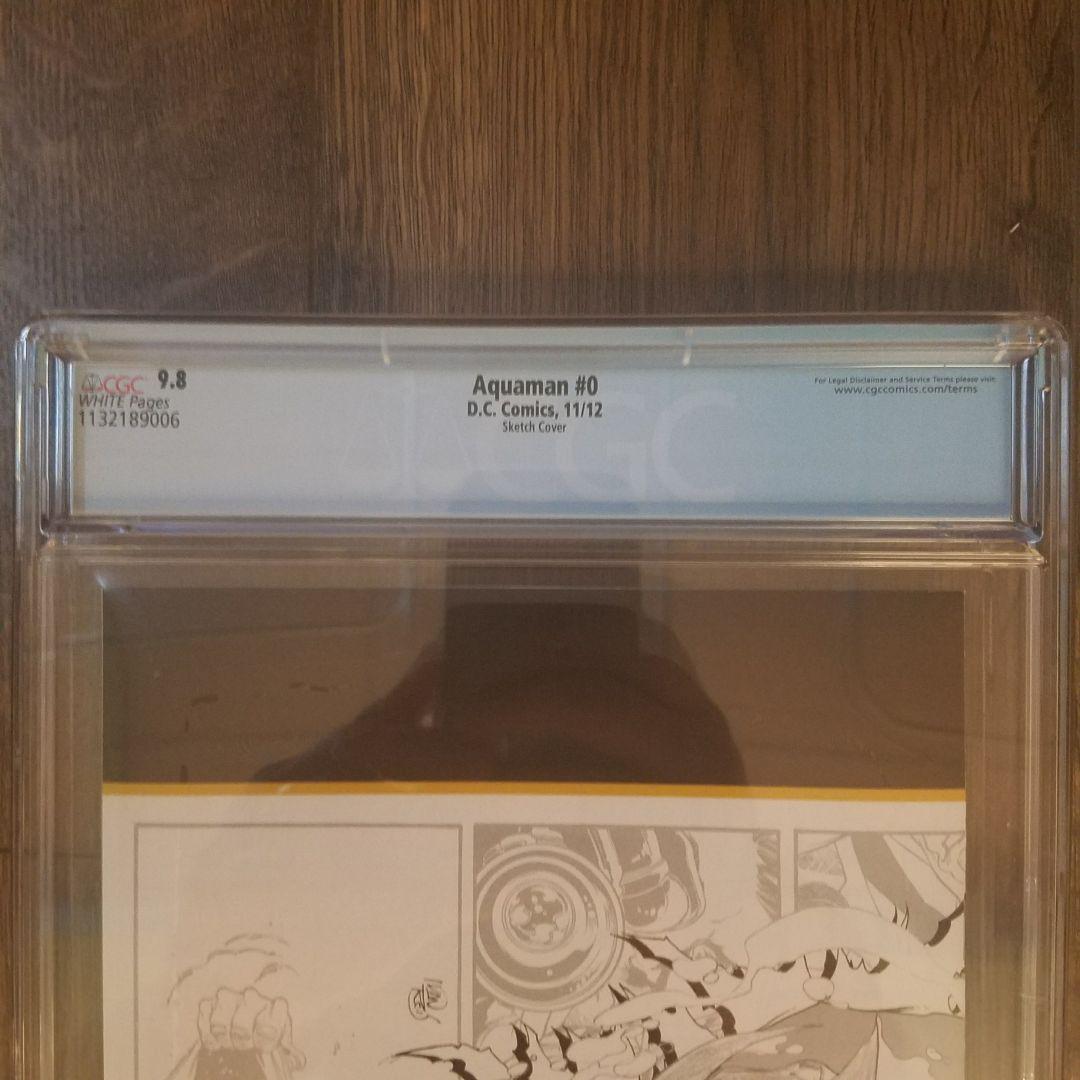 Aquaman #0 CGC 9.8 Back Label
