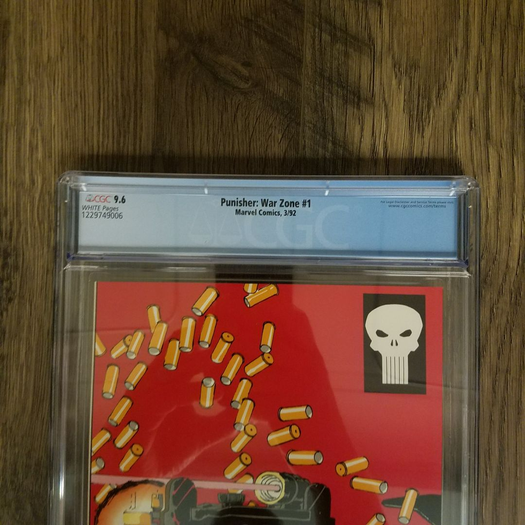Punisher War Zone #1 CGC 9.8 Back Label
