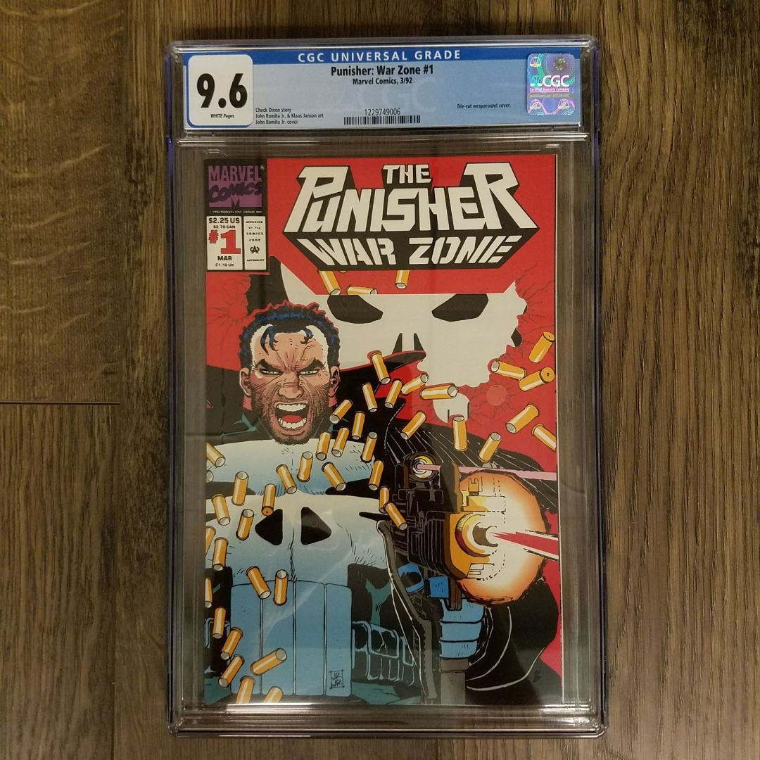 Punisher War Zone #1 CGC 9.8 Front