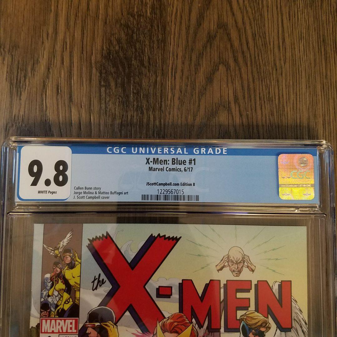 X-Men Blue #1 CGC 9.8 J. Scott Campbell Variant Cover B Front Label