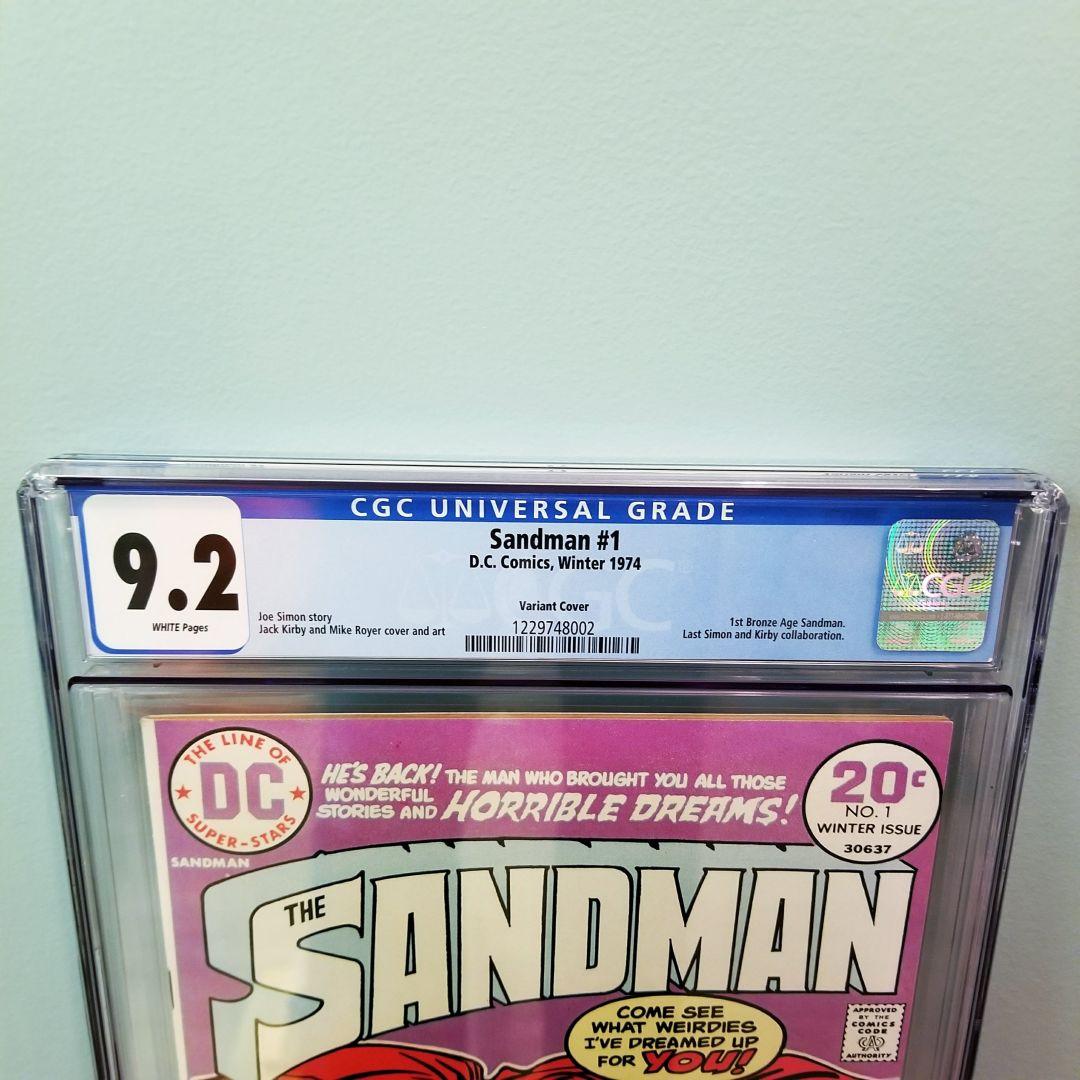 Sandman #1 CGC 9.2 Front Label