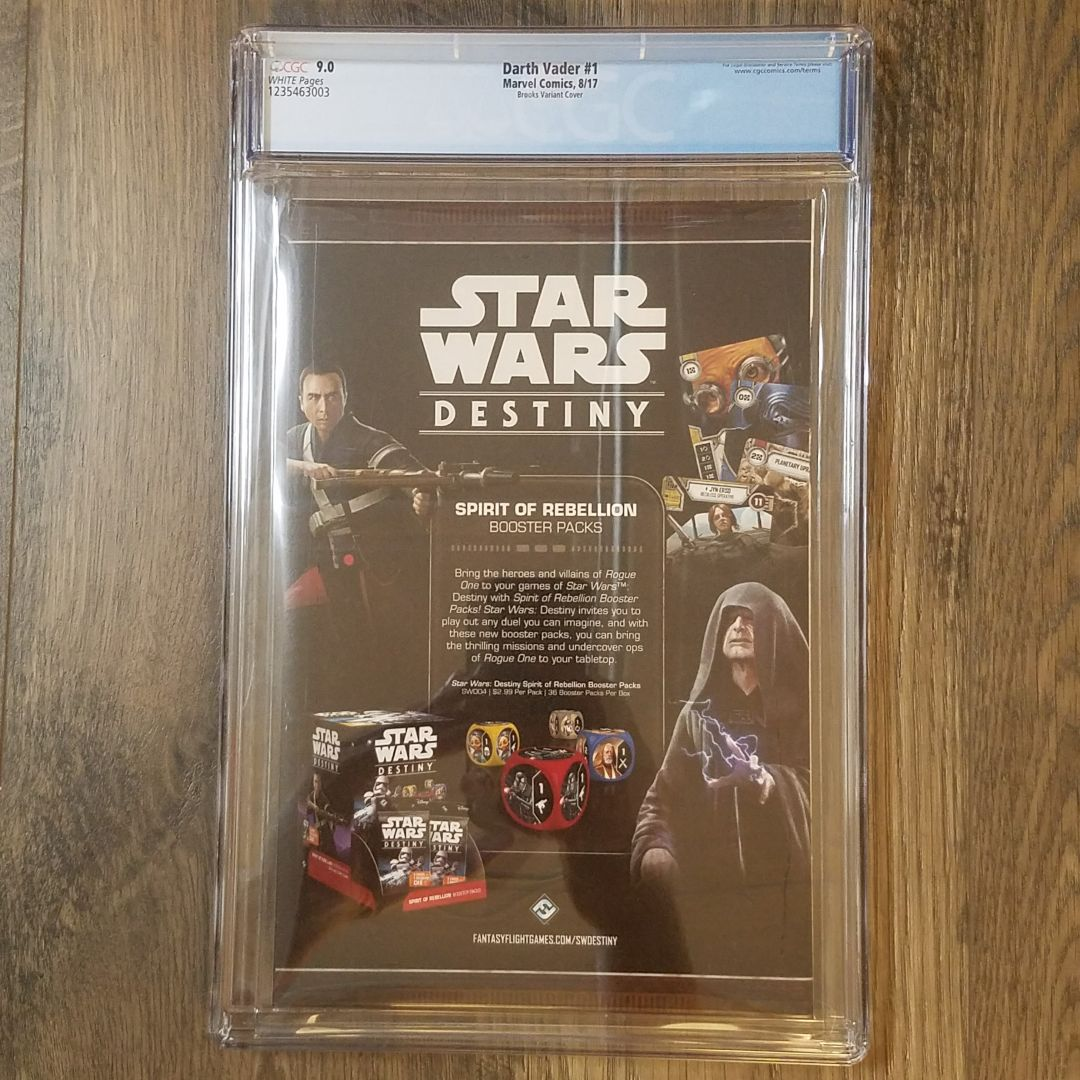 Darth Vader #1 (2017) CGC 9.0 Back Cover