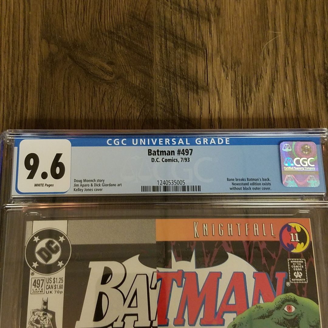 Batman #497 CGC 9.6 Front Label