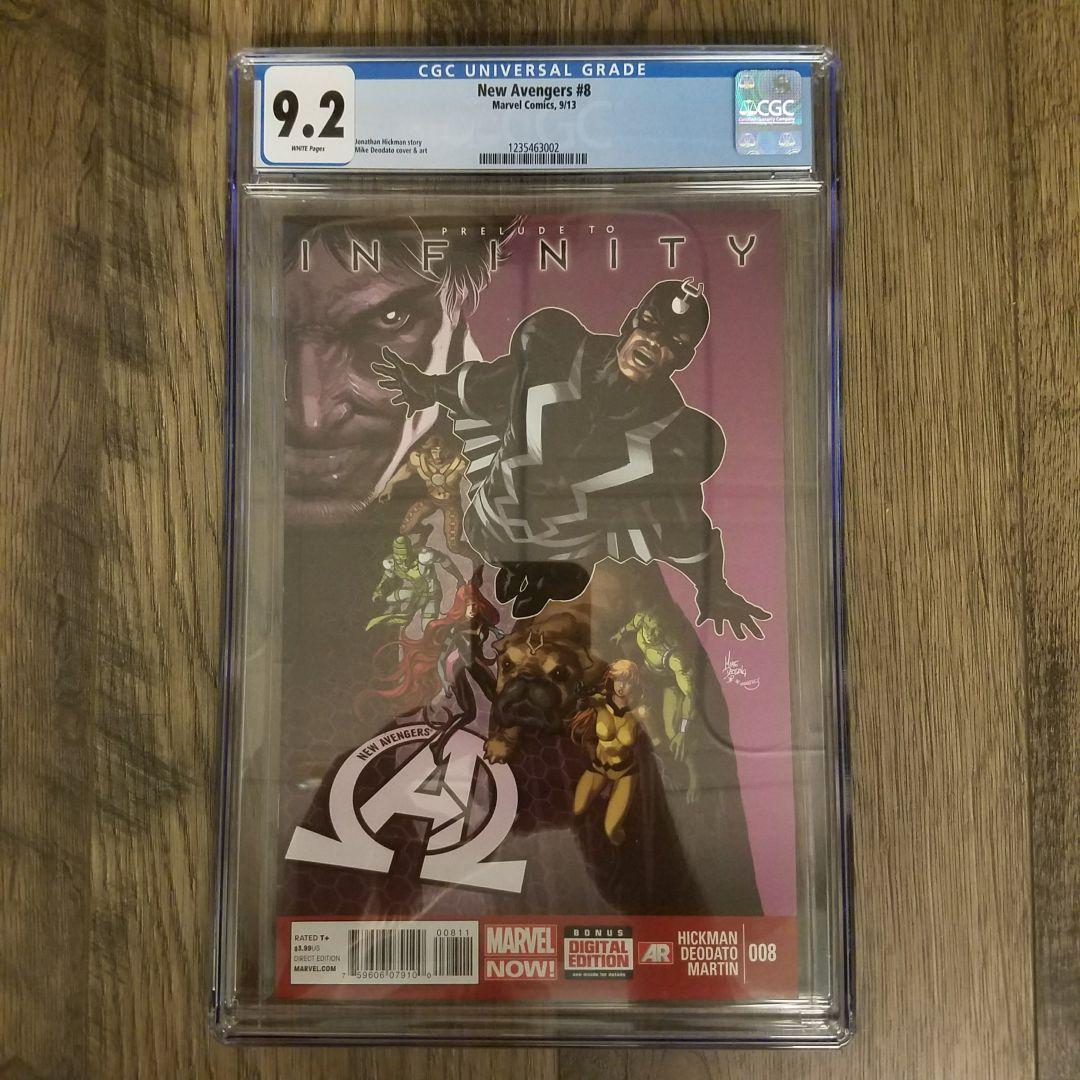 New Avengers #8 CGC 9.2 Front