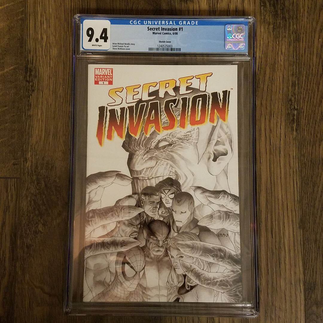 Secret Invasion #1 Sketch Cover CGC 9.4 Front