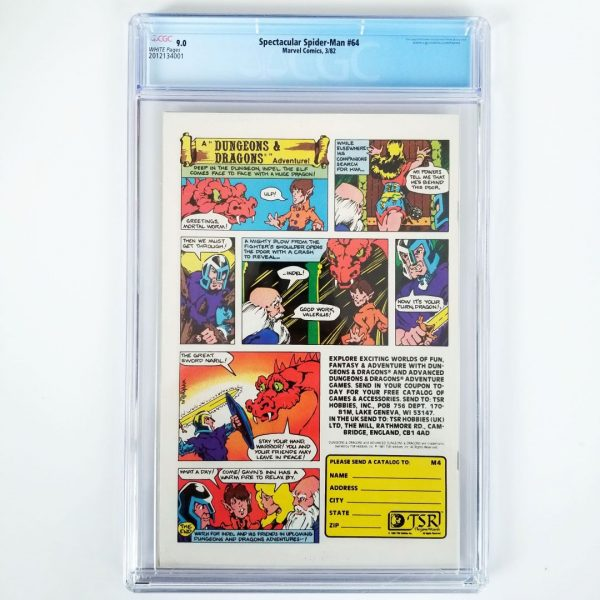 Spectacular Spider-Man #64 CGC 9.0 Back