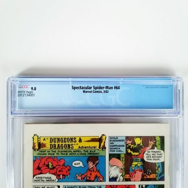 Spectacular Spider-Man #64 CGC 9.0 Back Label