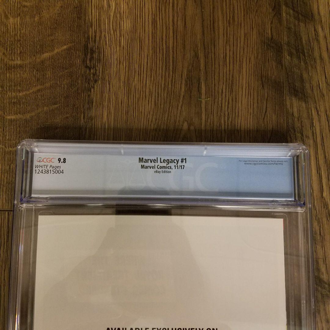 Marvel Legacy #1 CGC 9.8 eBay Variant Back Label