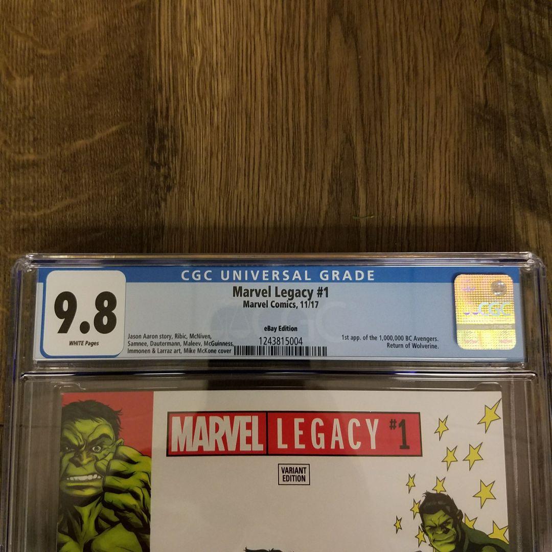 Marvel Legacy #1 CGC 9.8 eBay Variant Front Label