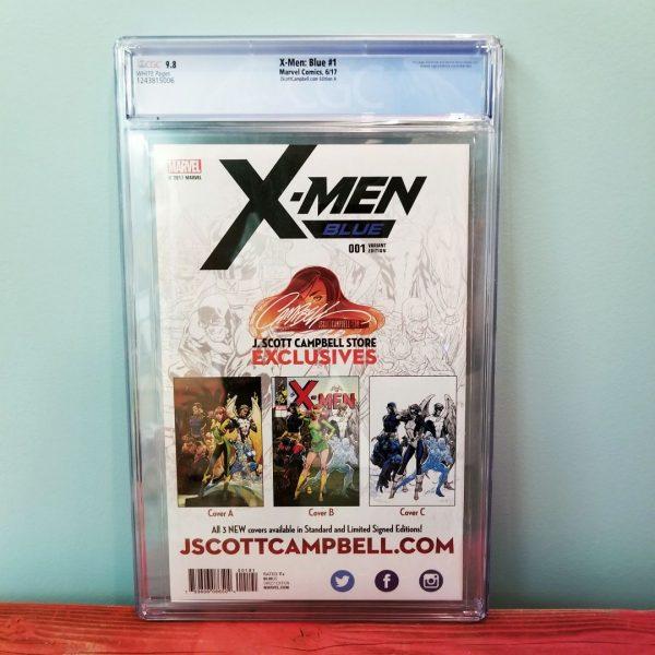 X-Men Blue #1 CGC 9.8 J. Scott Campbell Cover A Back