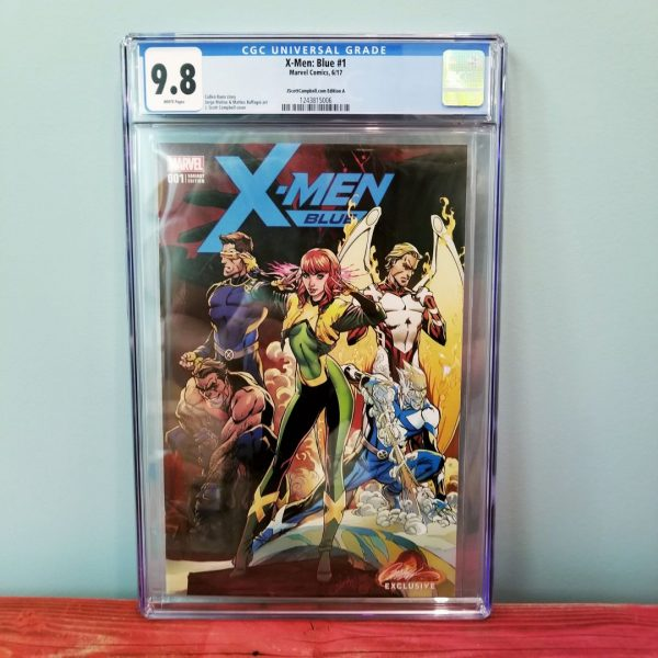 X-Men Blue #1 CGC 9.8 J. Scott Campbell Cover A Front