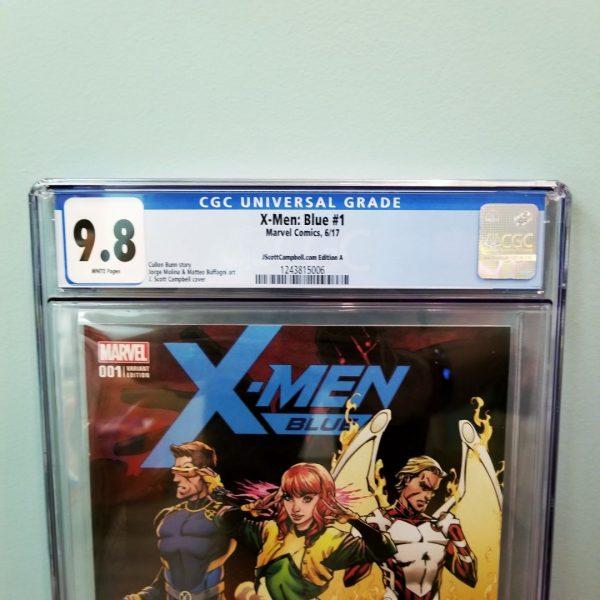 X-Men Blue #1 CGC 9.8 J. Scott Campbell Cover A Front Label