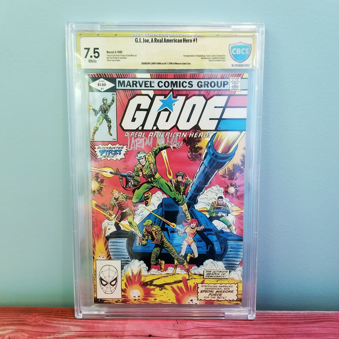 G.I. Joe #1 CBCS 7.5 Signed by Larry Hama Front