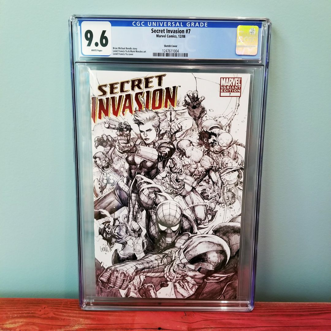 Secret Invasion #7 Leinil Francis Yu Sketch Variant CGC 9.8 Front