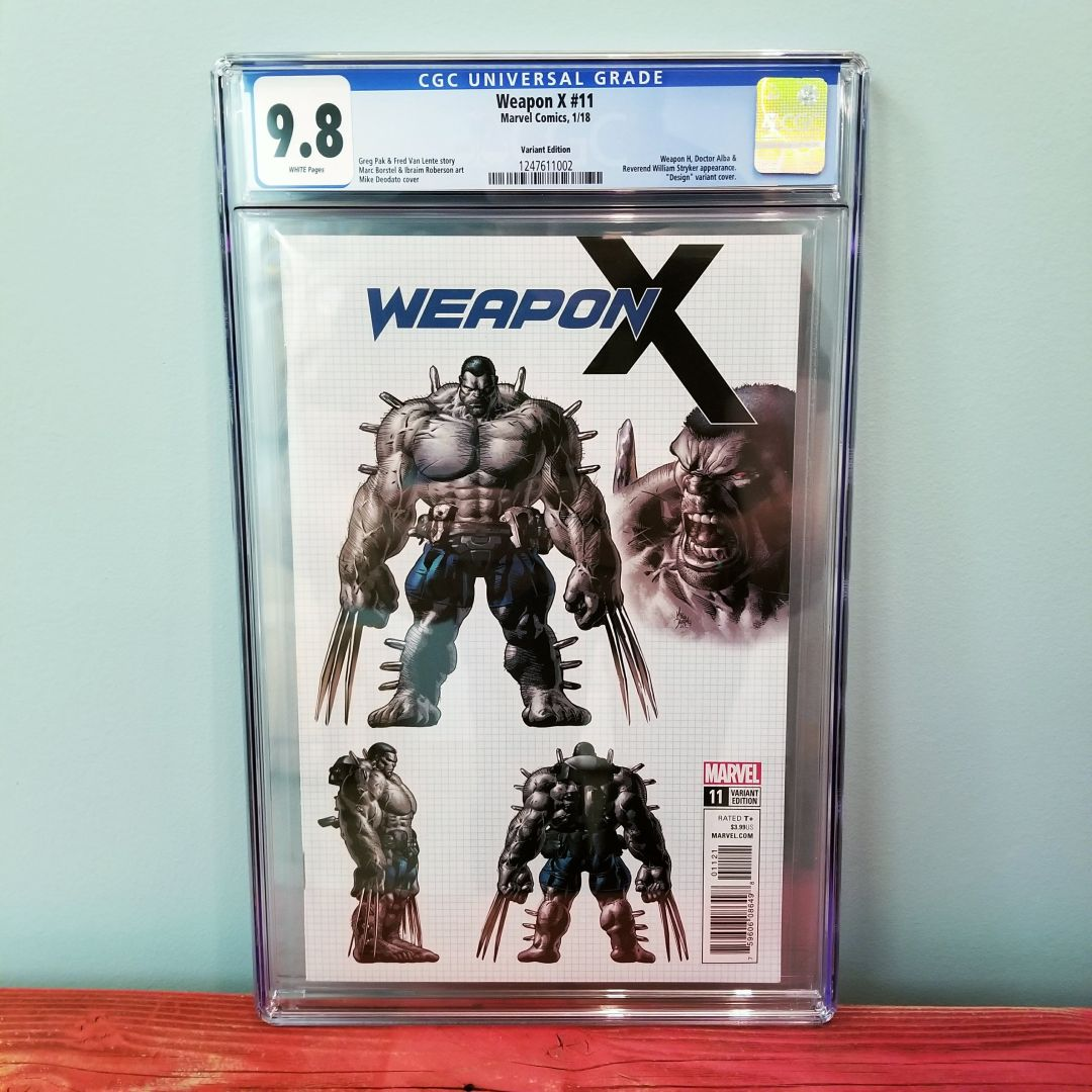 Weapon X #11 Design Variant CGC 9.8 Front