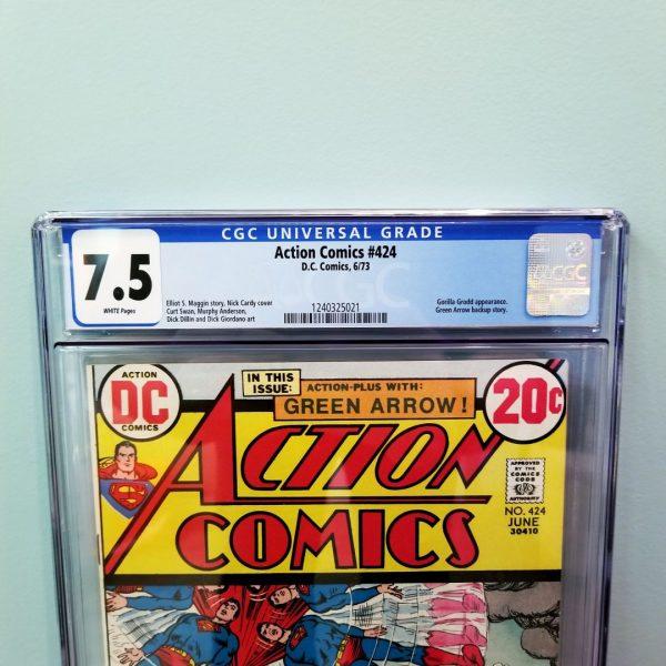 Action Comics #424 CGC 7.5 Front Label