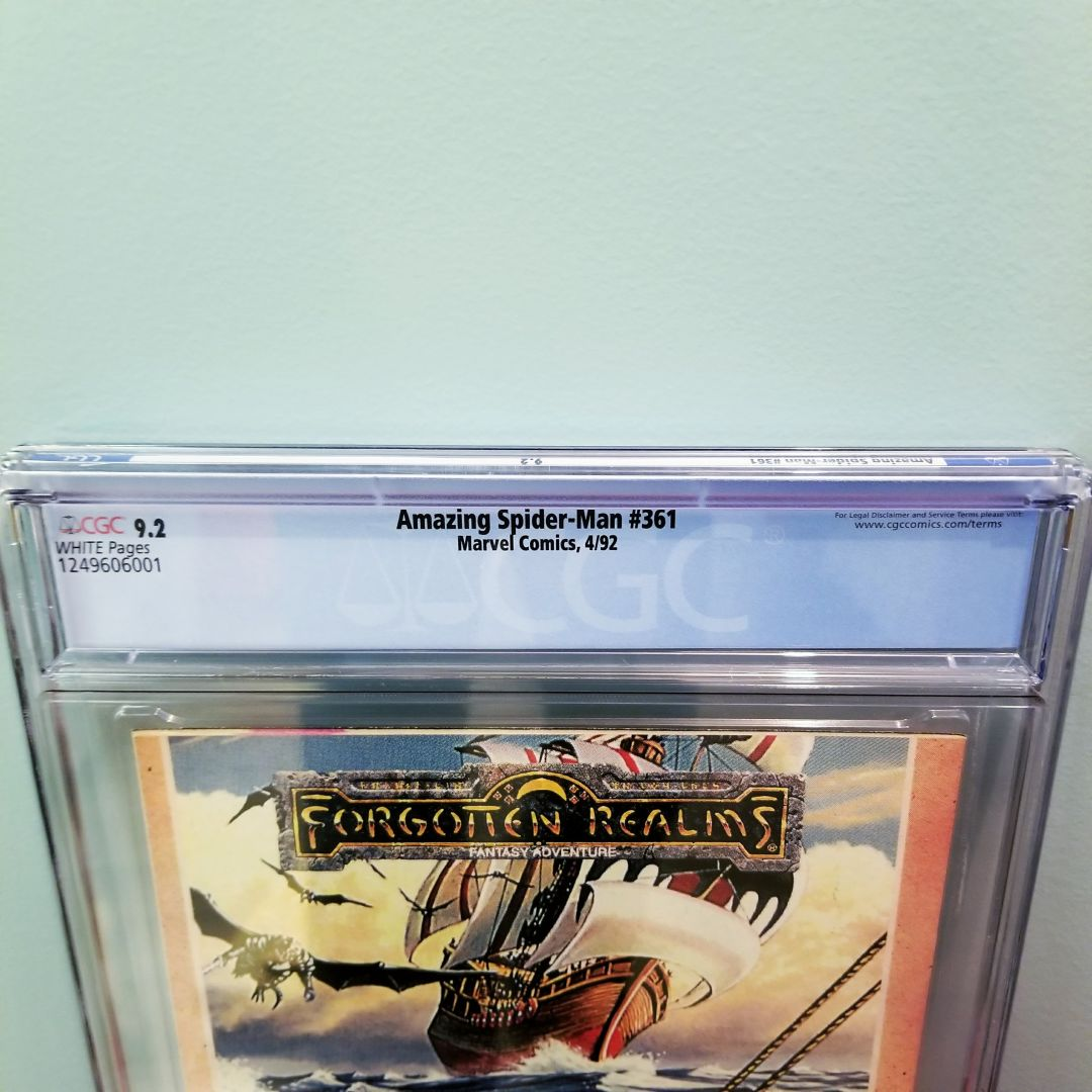 Amazing Spider-Man #361 CGC 9.2 Back Label