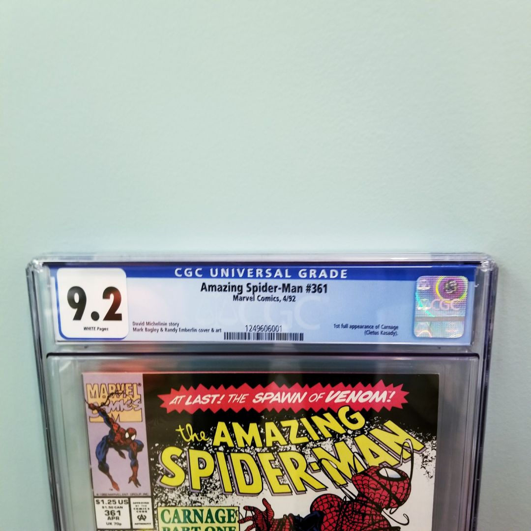 Amazing Spider-Man #361 CGC 9.2 Front Label