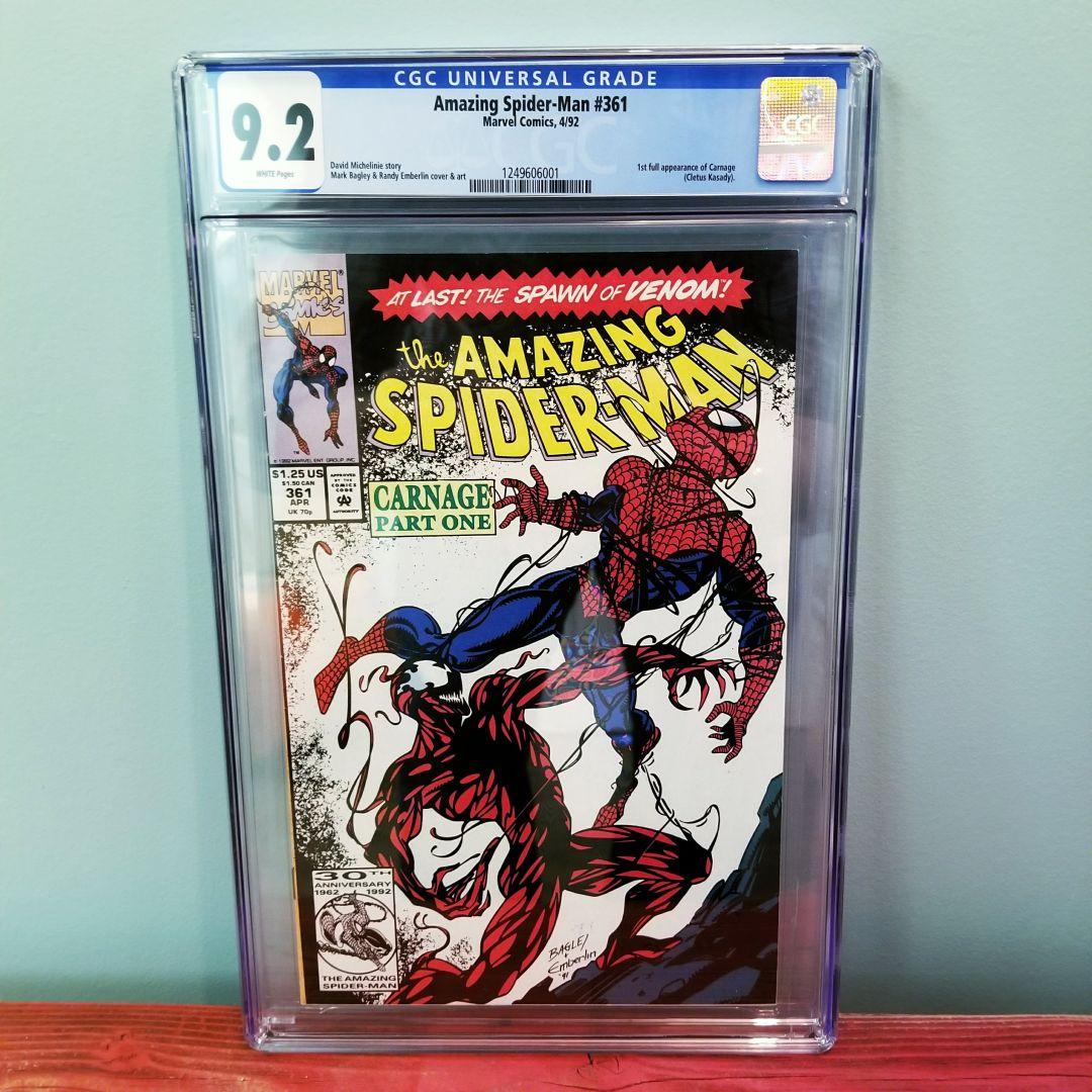 Amazing Spider-Man #361 CGC 9.2 Front