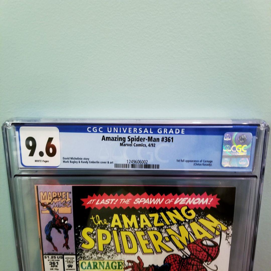 Amazing Spider-Man #361 CGC 9.6 Front Label