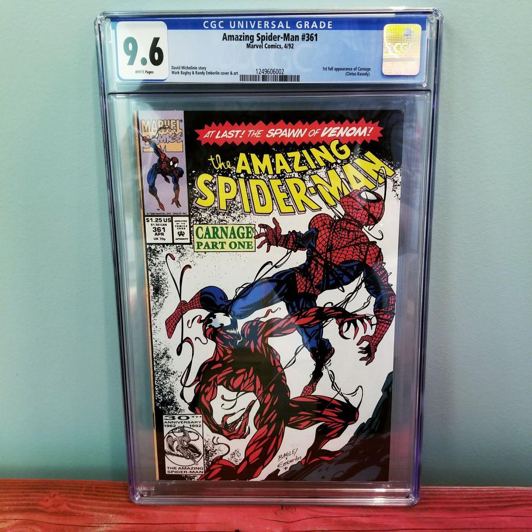 Amazing Spider-Man #361 CGC 9.6 Front