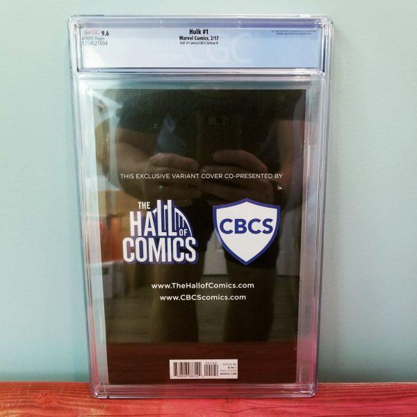 Hulk #1 Hall of Comics Edition B CGC 9.6 Back