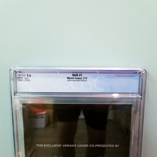 Hulk #1 Hall of Comics Edition B CGC 9.6 Back Label