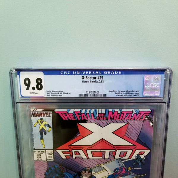 X-Factor #25 CGC 9.8 Front Label