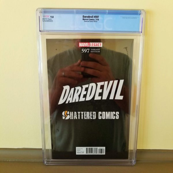 Daredevil #597 CGC 9.8 Shattered Comics Edition Back