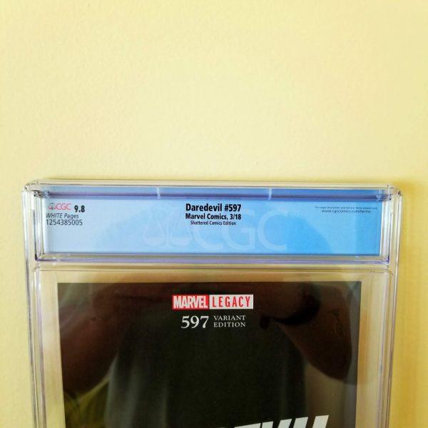 Daredevil #597 CGC 9.8 Shattered Comics Edition Back Label