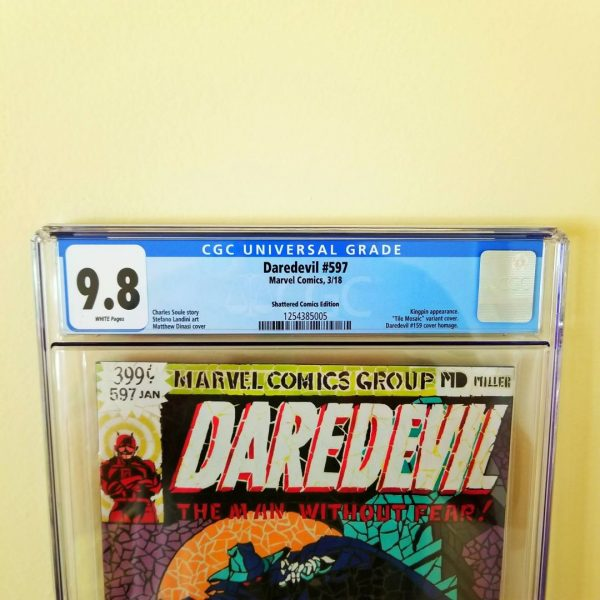 Daredevil #597 CGC 9.8 Shattered Comics Edition Front Label