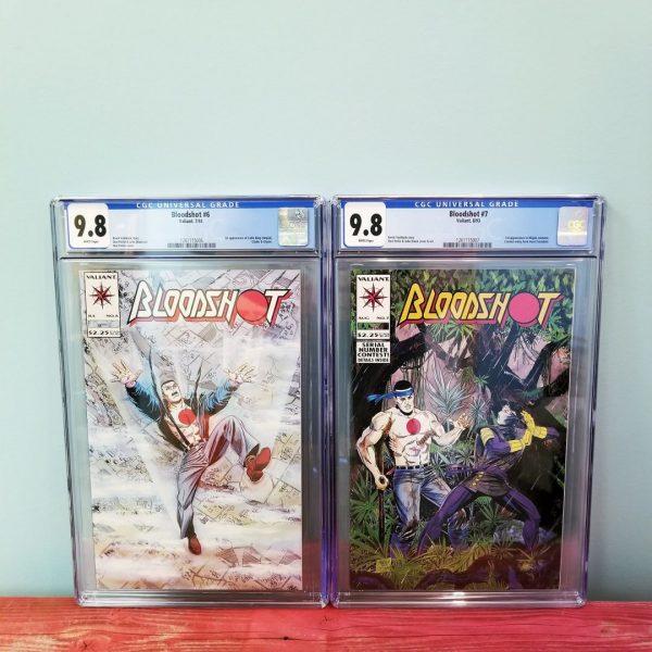Bloodshot #6 & #7 CGC 9.8 First Appearance Ninjak