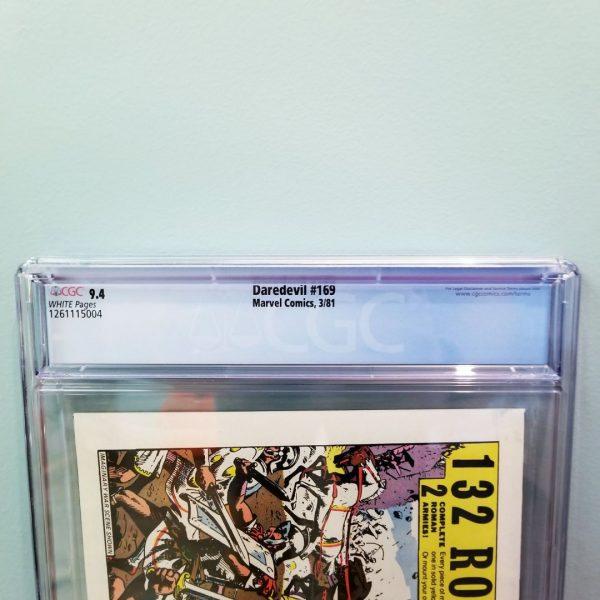 Daredevil #169 CGC 9.4 Back Label