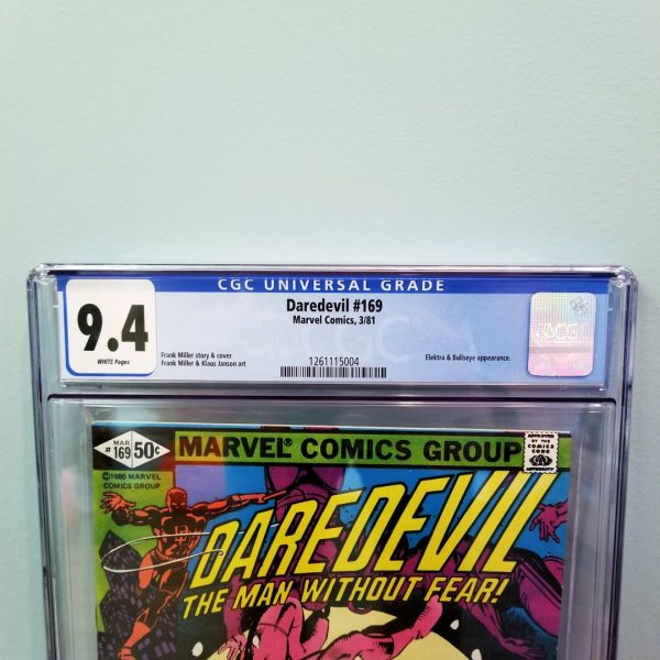Daredevil #169 CGC 9.4 Front Label