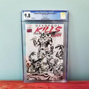 Deadpool Kills The Marvel Universe Again #1 CGC 9.8 Sketch Variant Front
