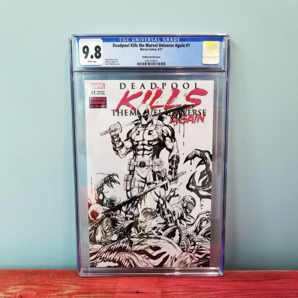 Deadpool Kills The Marvel Universe Again #1 CGC 9.8 Sketch Variant Front