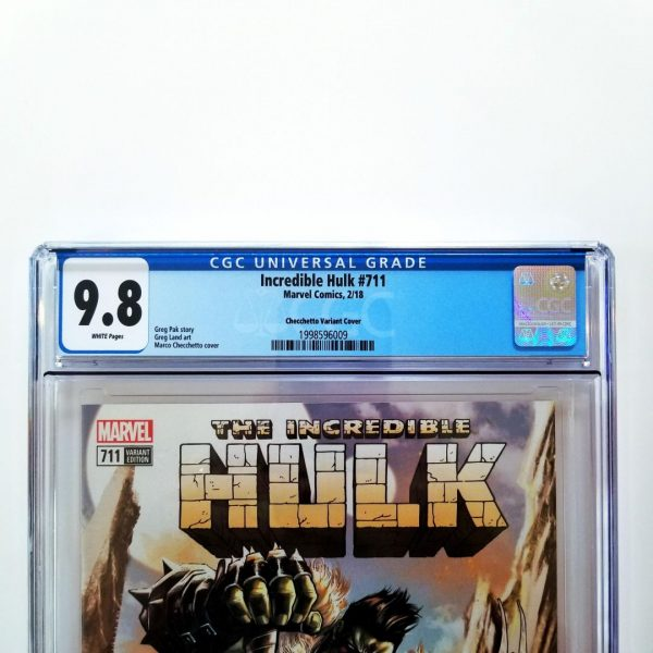 Incredible Hulk #711 CGC 9.8 Checchetto Variant Front Label