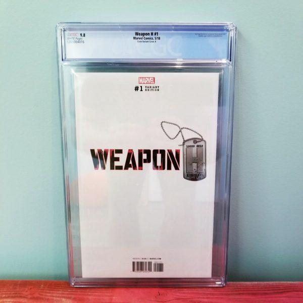 Weapon H #1 Clayton Crain Trade Dress Variant CGC 9.8 Back