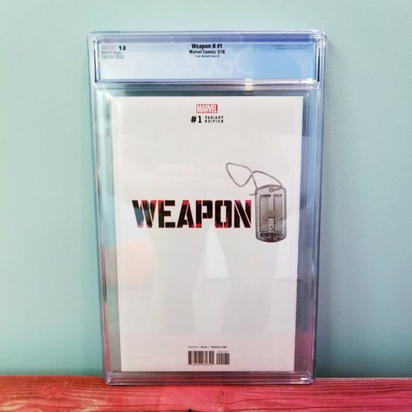 Weapon H #1 Clayton Crain Virgin Variant CGC 9.8 Back