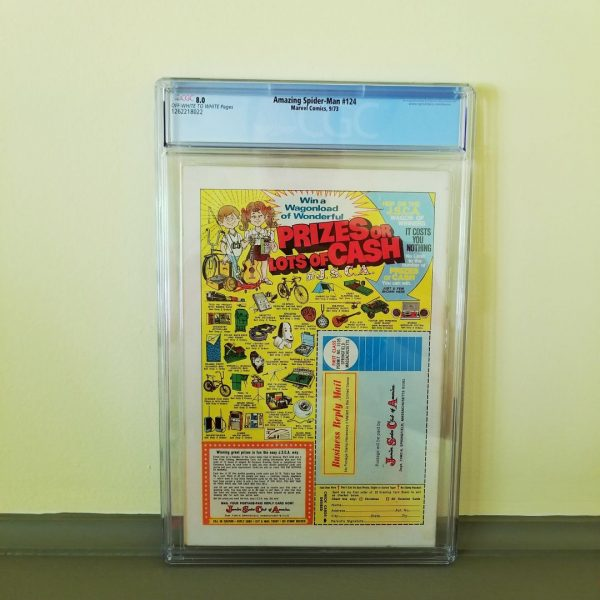 Amazing Spider-Man #124 CGC 8.0 Back