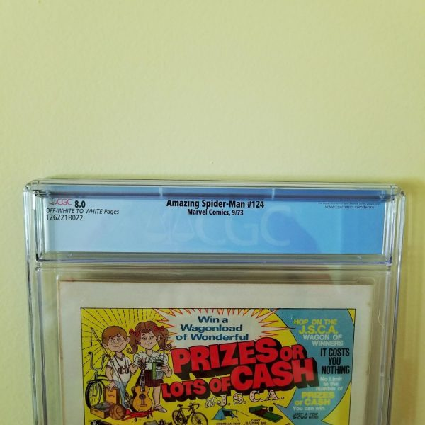 Amazing Spider-Man #124 CGC 8.0 Back Label